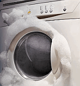Over foaming in washing machine