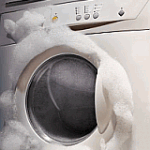 What causes too much foam in the washing machine?