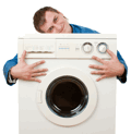 Repairman-looking-after-washer