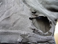 Holes in underpants