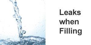 Leaks when filling